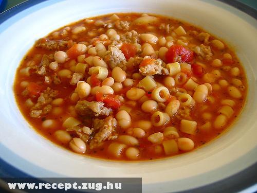 Olasz leves csõtésztával