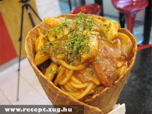 Spagetti kehely