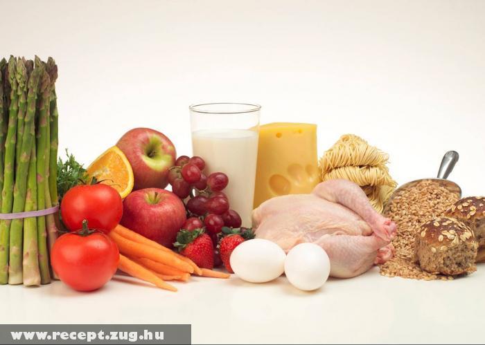 Rost tartalmú ételek