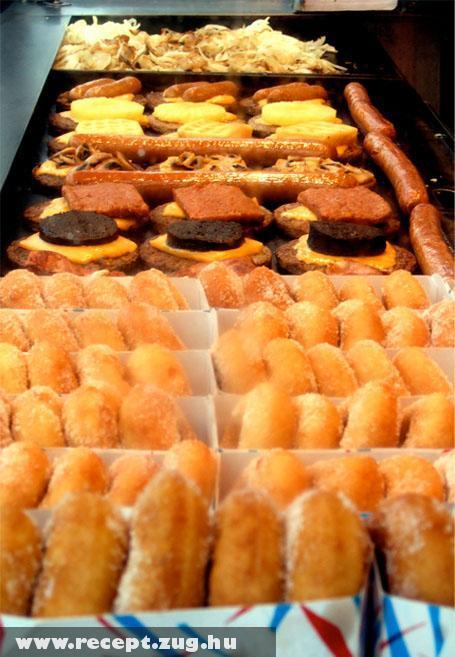 Amerikai ételek kínálata