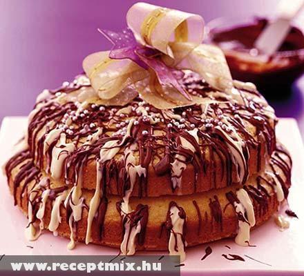 Csokival öntött Karácsonyi torta