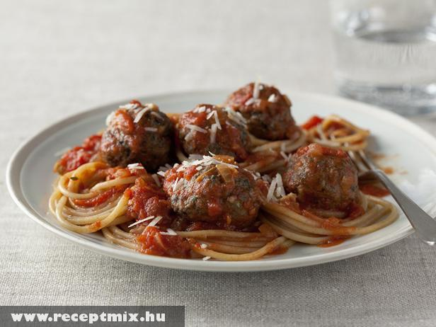 Bolognai húsgolyók spagettivel