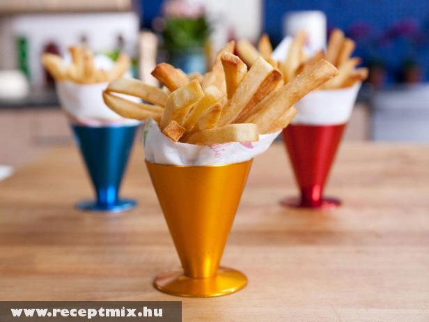Modern tálalásban a sültkrumpli