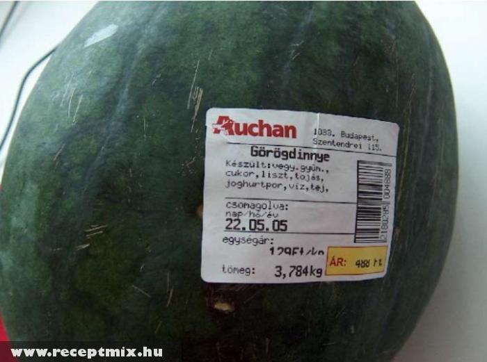 Már a görögdinnye is összetevõkbõl áll