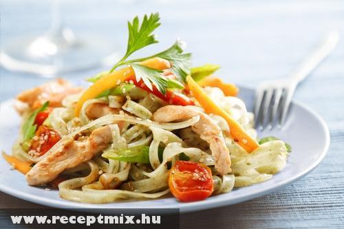 Szélesmetélt saláta