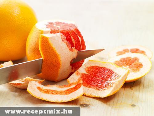 Grapefruit hámozás