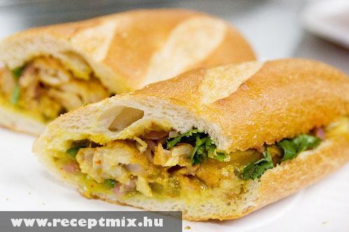Vietnámi macskahal szendvics