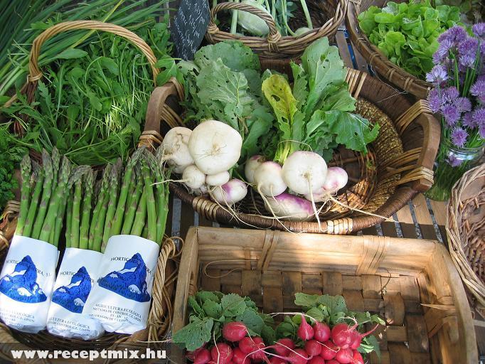 Bio zöldségek