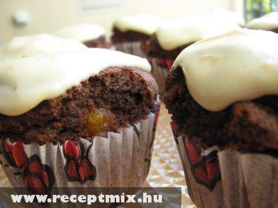 Mákos muffin vanília öntettel