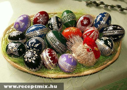 Húsvéti asztali tál