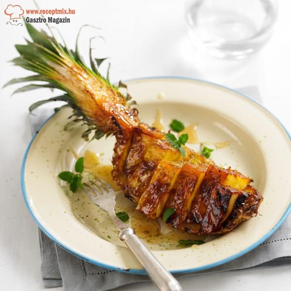 A csőben sült ananász egyszerű és gyors étel