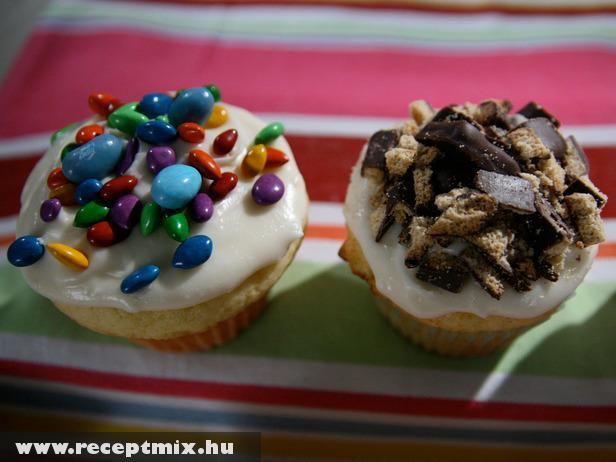 Drazsés és csokis muffin