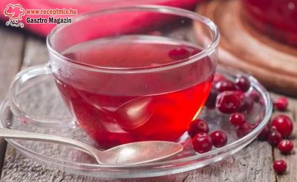 Tőzegáfonya tea