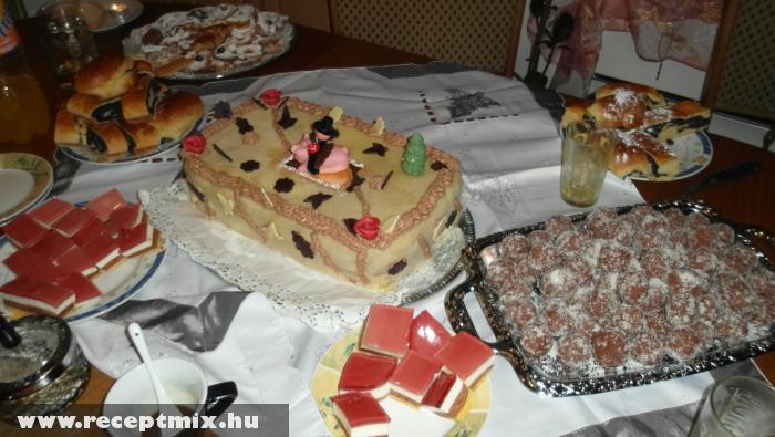 Karácsonyi süteményes asztal