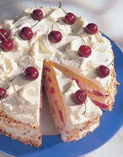 Gyümölcsös, krémes házi torta piskóta alappal