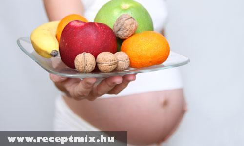 Ajánlott ételek terhesség idején