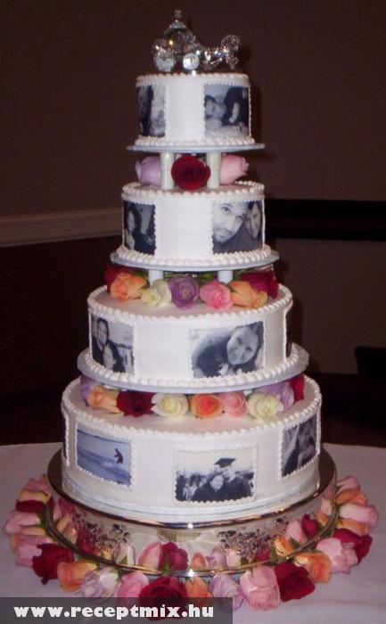 Fényképes esküvõi torta