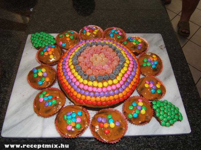 Cukrokkal díszített muffinok