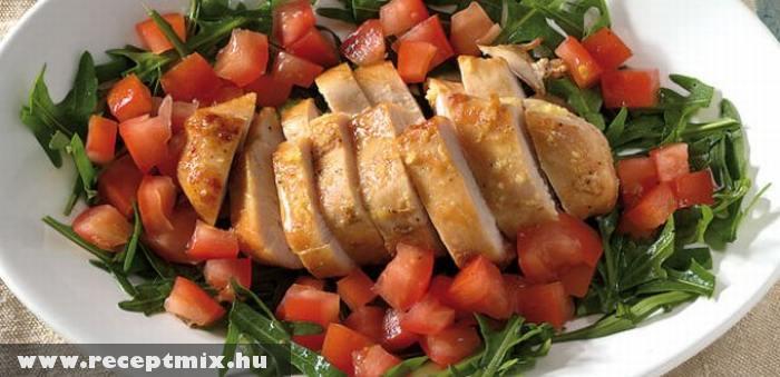 Sült hús paradicsomkockákkal