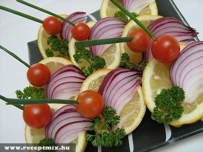 Nyársalt zöldségek
