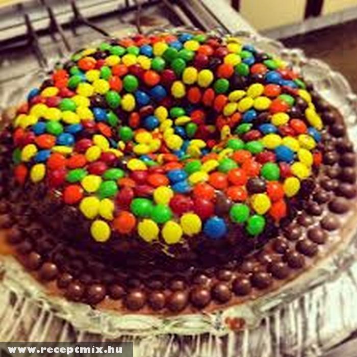 M&M-es torta