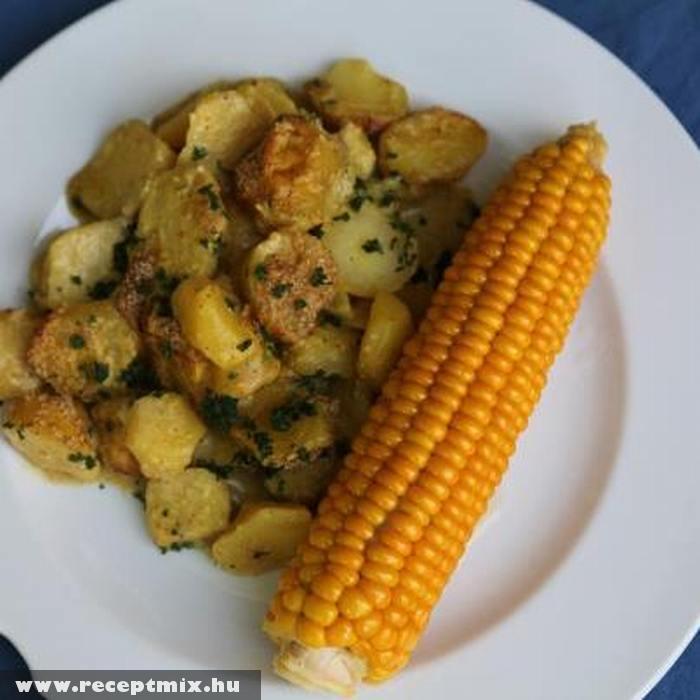 Sült krumpli és fõtt kukorica