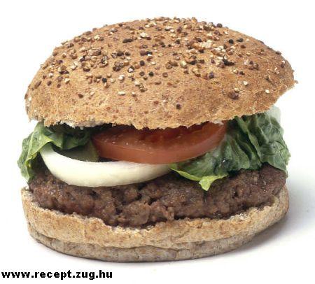 Egészséges hamburger rozsos bucival