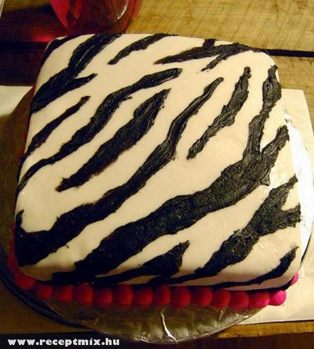 Zebra mintás sütemény
