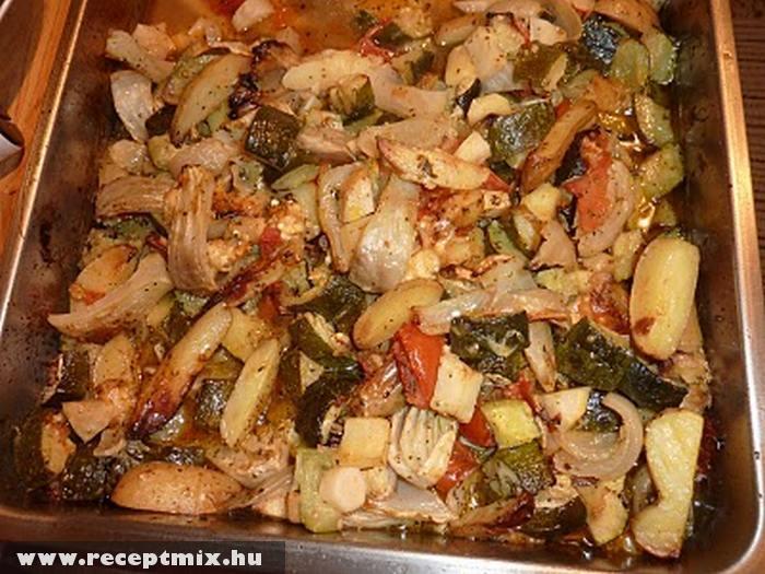 Sült zöldséges hús