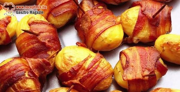 Baconbe csavart krumplik
