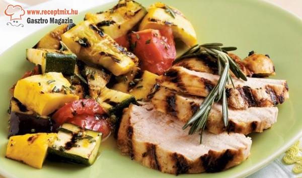 Csirkemell grillezett zöldségekkel