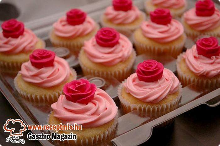 Eperkrémes muffin