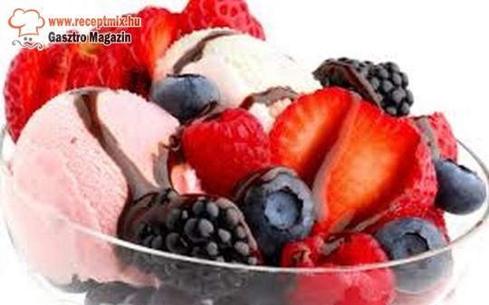 Fagyi friss gyümölcsökkel
