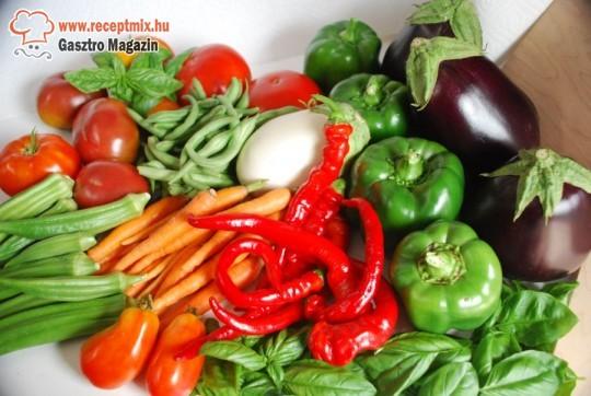 Friss zöldségek