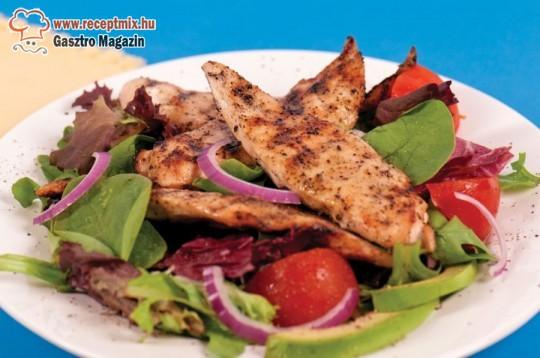 Grillezett hús vegyes zöldségekkel