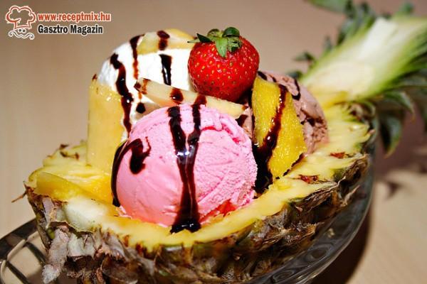 Gyümölcsös fagyi kehely