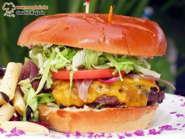 Házi készítésű hamburger