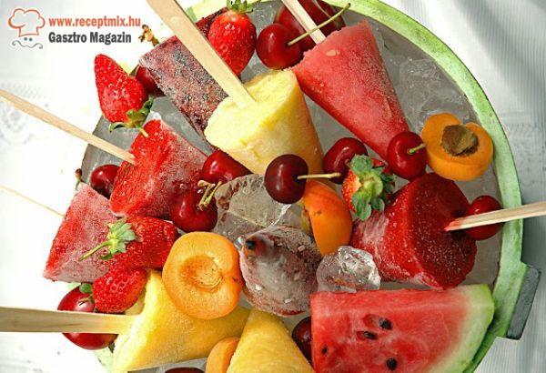 Jégkrémek gyümölcsökből