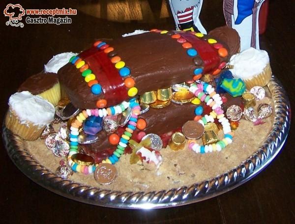 Kincsesláda torta