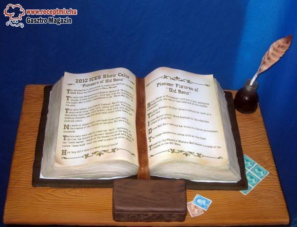 Könyv alakú torta