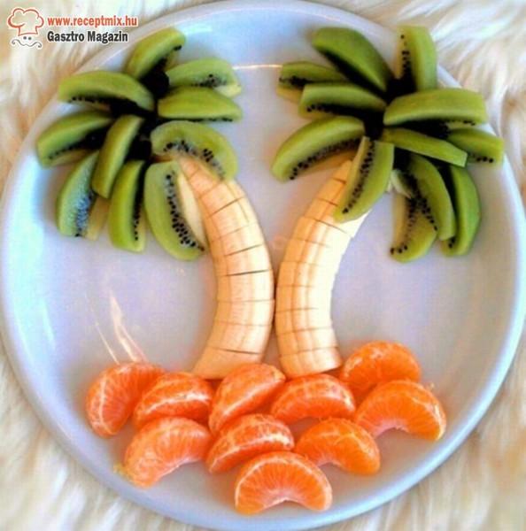 Pálmafák gyümölcsökből