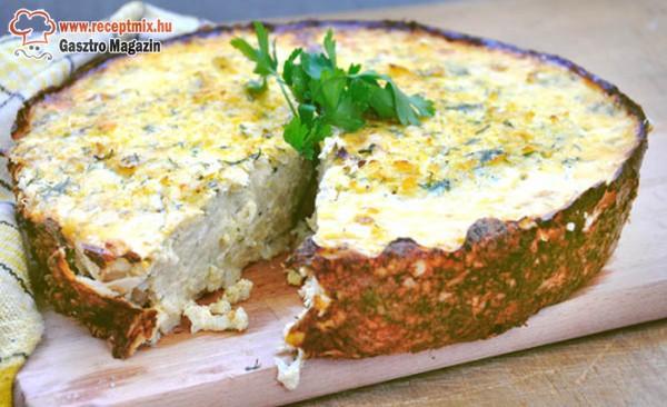 Rakott, sajtos csirkemelltorta