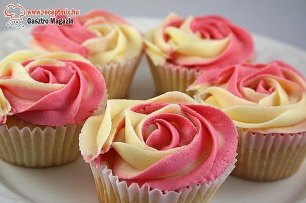 Rózsa muffin