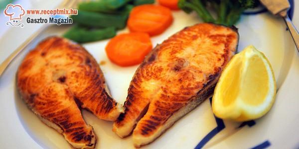 Sült hal párolt zöldségekkel