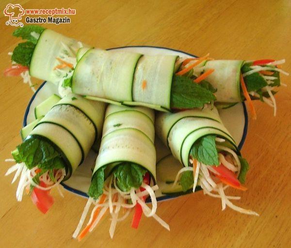 Tavaszi zöldségtekercs