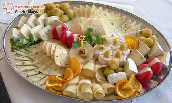 Vegyes sajttál