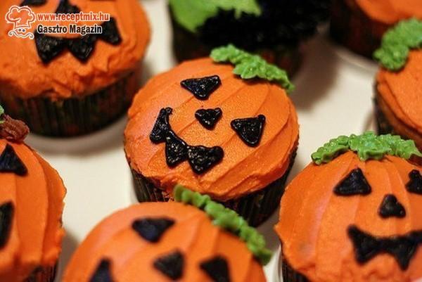 Halloween tökmuffin