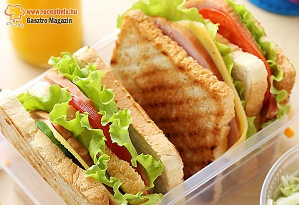 Zöldséges szendvicsek