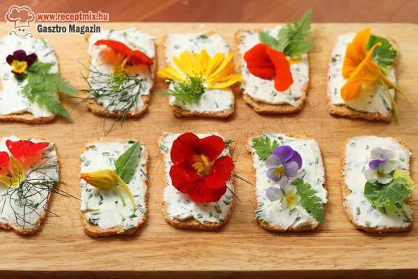 Virágos szendvicsek