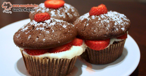Desszertnek epres-csokis muffin